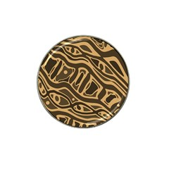 Brown Abstract Art Hat Clip Ball Marker by Valentinaart