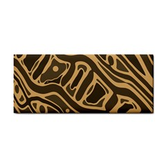Brown Abstract Art Hand Towel