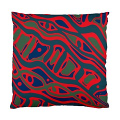 Red And Green Abstract Art Standard Cushion Case (two Sides) by Valentinaart