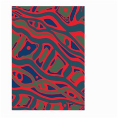 Red And Green Abstract Art Large Garden Flag (two Sides) by Valentinaart