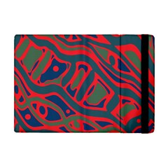Red And Green Abstract Art Apple Ipad Mini Flip Case by Valentinaart