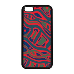 Red And Green Abstract Art Apple Iphone 5c Seamless Case (black) by Valentinaart