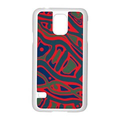 Red And Green Abstract Art Samsung Galaxy S5 Case (white) by Valentinaart