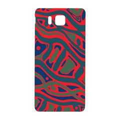 Red And Green Abstract Art Samsung Galaxy Alpha Hardshell Back Case by Valentinaart