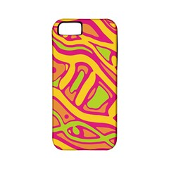 Orange Hot Abstract Art Apple Iphone 5 Classic Hardshell Case (pc+silicone) by Valentinaart