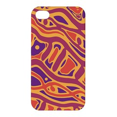 Orange Decorative Abstract Art Apple Iphone 4/4s Hardshell Case