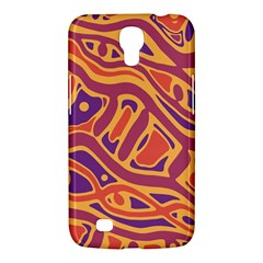 Orange Decorative Abstract Art Samsung Galaxy Mega 6 3  I9200 Hardshell Case by Valentinaart