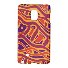Orange Decorative Abstract Art Galaxy Note Edge by Valentinaart