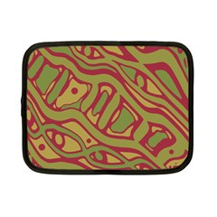 Brown Abstract Art Netbook Case (small)  by Valentinaart