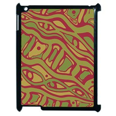 Brown Abstract Art Apple Ipad 2 Case (black) by Valentinaart