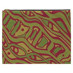 Brown Abstract Art Cosmetic Bag (xxxl)  by Valentinaart