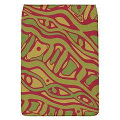 Brown Abstract Art Flap Covers (l)  by Valentinaart