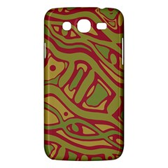 Brown Abstract Art Samsung Galaxy Mega 5 8 I9152 Hardshell Case  by Valentinaart