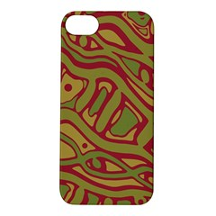 Brown Abstract Art Apple Iphone 5s/ Se Hardshell Case by Valentinaart