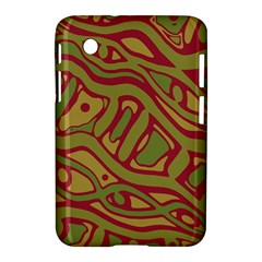 Brown Abstract Art Samsung Galaxy Tab 2 (7 ) P3100 Hardshell Case  by Valentinaart