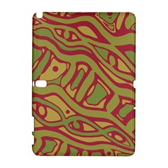 Brown Abstract Art Samsung Galaxy Note 10 1 (p600) Hardshell Case by Valentinaart