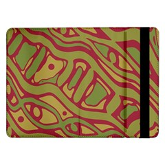 Brown Abstract Art Samsung Galaxy Tab Pro 12 2  Flip Case by Valentinaart