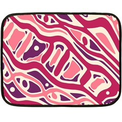 Pink And Purple Abstract Art Fleece Blanket (mini) by Valentinaart