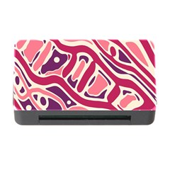 Pink And Purple Abstract Art Memory Card Reader With Cf by Valentinaart