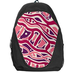 Pink And Purple Abstract Art Backpack Bag by Valentinaart