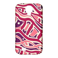 Pink And Purple Abstract Art Samsung Galaxy S4 Classic Hardshell Case (pc+silicone) by Valentinaart
