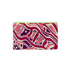 Pink And Purple Abstract Art Cosmetic Bag (xs) by Valentinaart