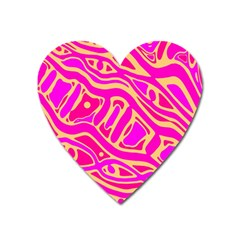 Pink Abstract Art Heart Magnet by Valentinaart