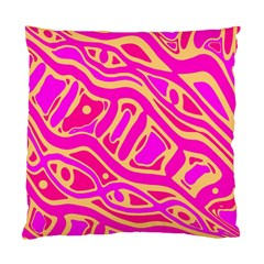Pink Abstract Art Standard Cushion Case (one Side) by Valentinaart