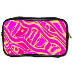 Pink Abstract Art Toiletries Bags