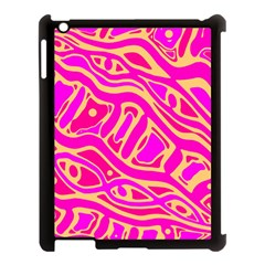 Pink Abstract Art Apple Ipad 3/4 Case (black) by Valentinaart