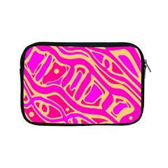 Pink Abstract Art Apple Ipad Mini Zipper Cases by Valentinaart