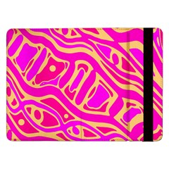 Pink Abstract Art Samsung Galaxy Tab Pro 12 2  Flip Case by Valentinaart