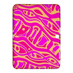 Pink Abstract Art Samsung Galaxy Tab 4 (10 1 ) Hardshell Case  by Valentinaart