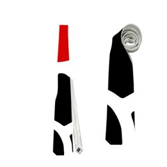 Red, Black And White Abstraction Neckties (one Side)  by Valentinaart