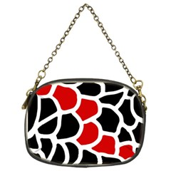 Red, Black And White Abstraction Chain Purses (two Sides)  by Valentinaart