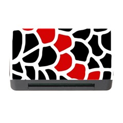 Red, Black And White Abstraction Memory Card Reader With Cf by Valentinaart