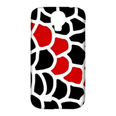 Red, Black And White Abstraction Samsung Galaxy S4 Classic Hardshell Case (pc+silicone) by Valentinaart