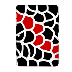Red, Black And White Abstraction Samsung Galaxy Tab 2 (10 1 ) P5100 Hardshell Case  by Valentinaart