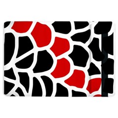 Red, Black And White Abstraction Ipad Air 2 Flip by Valentinaart