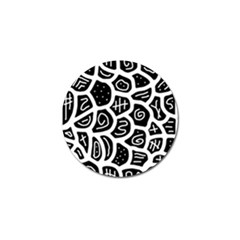 Black And White Playful Design Golf Ball Marker (10 Pack)