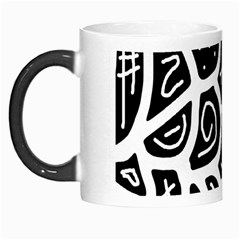 Black And White Playful Design Morph Mugs by Valentinaart