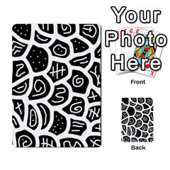 Black And White Playful Design Multi Purpose Cards (rectangle)  by Valentinaart