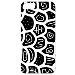 Black And White Playful Design Apple Iphone 5 Classic Hardshell Case by Valentinaart