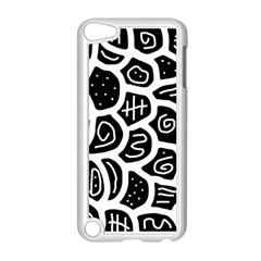 Black And White Playful Design Apple Ipod Touch 5 Case (white) by Valentinaart
