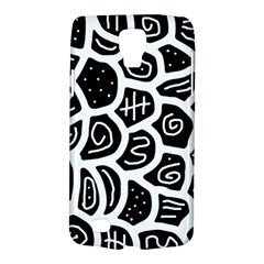Black And White Playful Design Galaxy S4 Active by Valentinaart