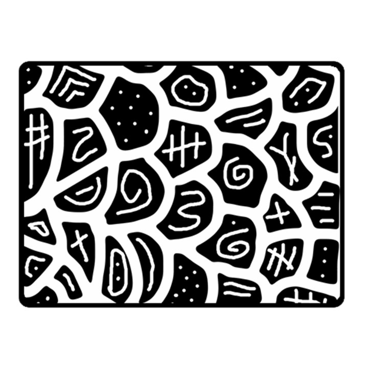 Black and white playful design Double Sided Fleece Blanket (Small)