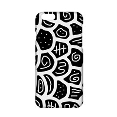 Black And White Playful Design Apple Iphone 6/6s Hardshell Case by Valentinaart