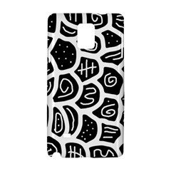 Black And White Playful Design Samsung Galaxy Note 4 Hardshell Case by Valentinaart