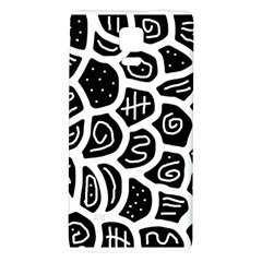 Black And White Playful Design Galaxy Note 4 Back Case by Valentinaart