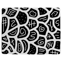 Black And White Playful Design Jigsaw Puzzle Photo Stand (rectangular) by Valentinaart